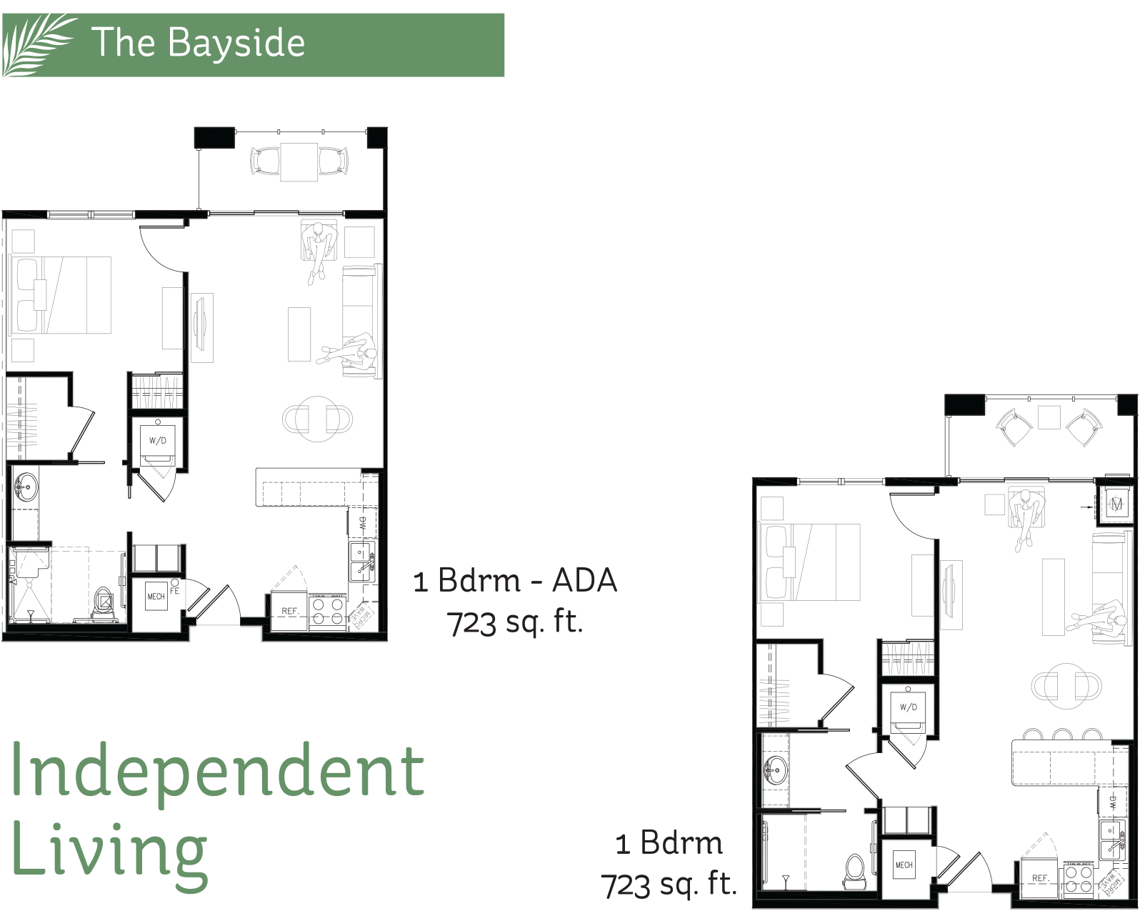Spacious floor plans the pointe independent living for Spacious floor plans