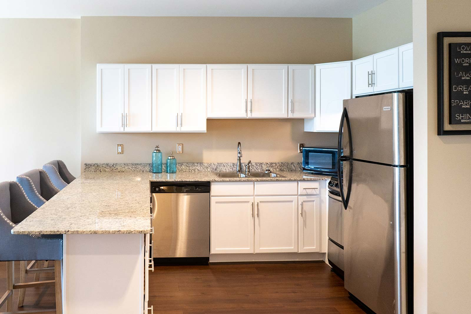 Independent living apartment kitchen at The Arbors of Gulf Breeze in Gulf Breeze, FL